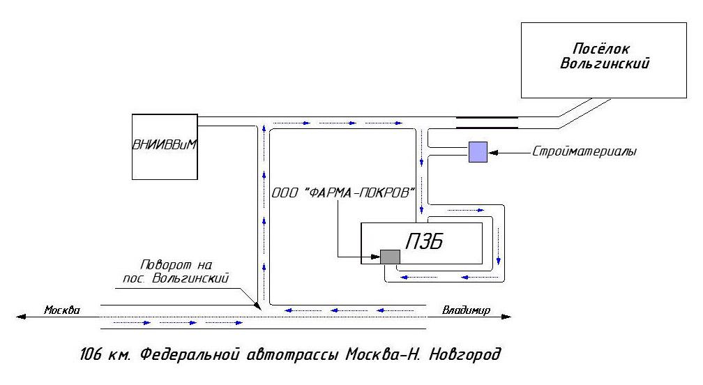 Схема проезда на производство
